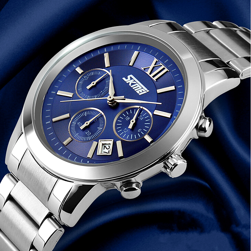 fashion mens watches business steel luxury