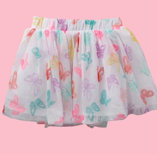 5pec/lot 2014 New Baby girls chiffon fluffy petti skirts 2-7 Years White Casual tutu Princess girl clothes - Yang yang living Hall store