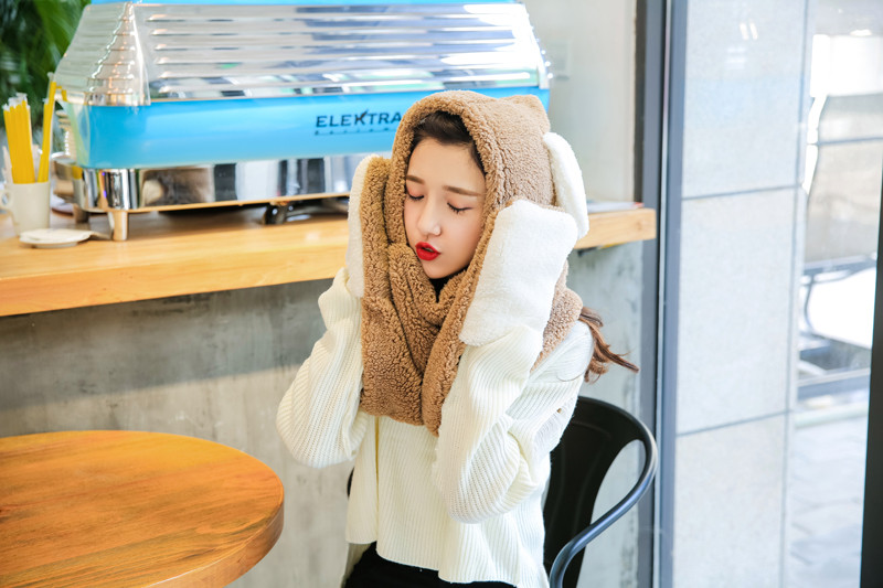 Hot Sale Women Hat Scarf Gloves Set Autumn Winter Warm 3pcs Scarves Glove Hat Set Cartoon Adult Kid Baby Cap Scarf Glove Set 111