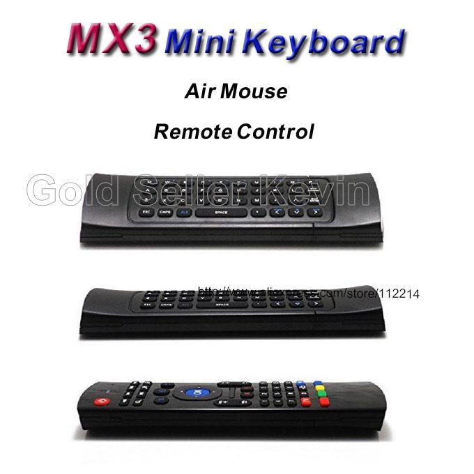 MX3 Fly Air Mouse 2.4Ghz Wireless Qwerty Keyboard Remote Control for Smart Android TV Box Windows Vista XP 7 Linux Media Player(China (Mainland))