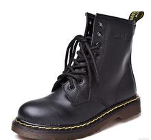 Nueva Inglaterra Estilo Dr Martin 100% cuero genuino Botas Martin Zapatos de Men & Women Marca Dr Diseñador Motorcycle Boots Tamaño 35-44(China (Mainland))