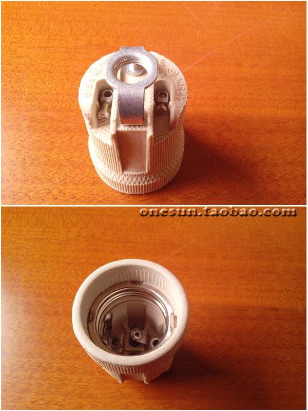 Wholesale Price, 3pcs/lot, E27 Ceramic Lamp Base Socket, Big Screw E27 Lamp Holder + Fixed Plate Bracket for DIY Desk Lamp(China (Mainland))