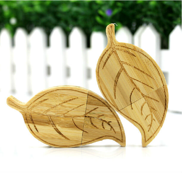 Best Gift Hot Sale Wooden Leaf 4-32GB USB 2.0 Flash Memory Stick Driver U Disk Pen Drive LU586(China (Mainland))