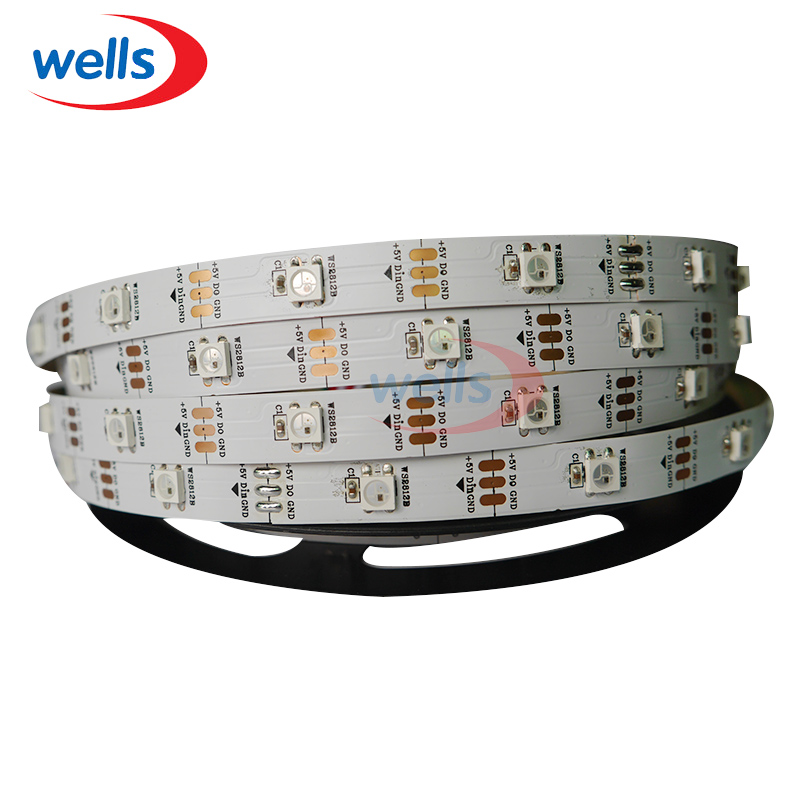 100M 20 X 5M WS2812B White/Black PCB WS2811 IC Digital RGB LED Strip Light # DC5V non-Waterproof(China (Mainland))