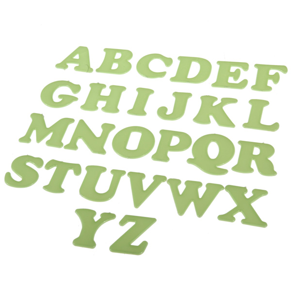 2016 New Arrival Hot Selling 26pcs Glow In The Dark Luminous Alphabet Letters Word Decal Art Wall Stickers For Kids Home Decor(China (Mainland))