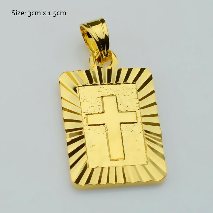 Christian Gold Cross Pendants Women,18k Gold Plated Christianity Crucifix Classic Fashion Jewelry Charm Pendant Jesus Items gift(China (Mainland))