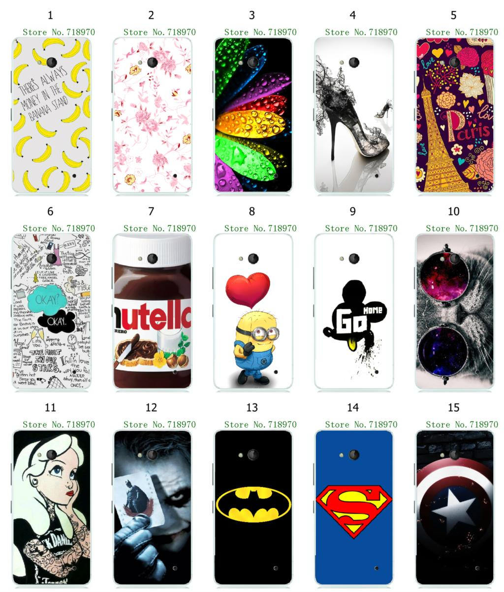 new arrival hybrid retail batman nutella minions 15designs white hard mobile phone bags&cases For Nokia Lumia 640 free shipping(China (Mainland))