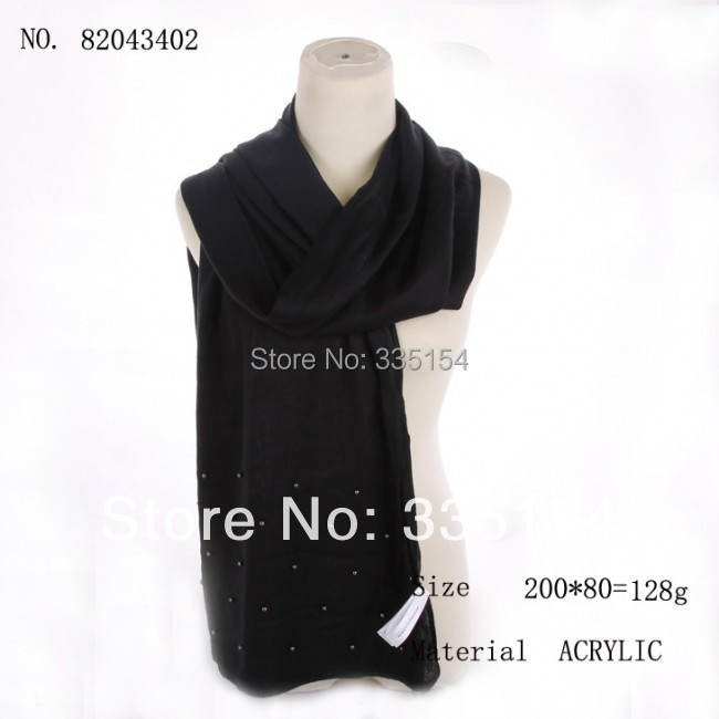 2015 Newest Pearl Acrylic Wool Scarf Plain Color Wool Scarf 2 Colors Mixed 10PCS/lot FREE SHIPPING(China (Mainland))
