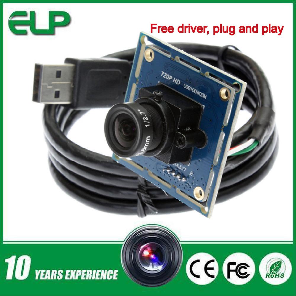 CMOS OV9712 2.8mm usb cctv camera, free driver usb endoscope camera, usb2.0 PC camera ELP-USB100W03M-L28(China (Mainland))