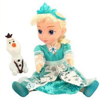 High Quality Princess 11.5 Inch Snow Glow Elsa Doll Toys With Music Let It Go And Light With Olaf Gift For Kids Toys Brinquedos(China (Mainland))