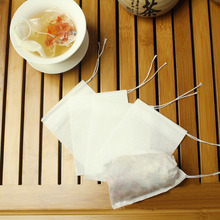 Cheapes 100pcs/lot Disposable String Drawstring Empty Heat Seal Filter Paper Tea Bags(China (Mainland))