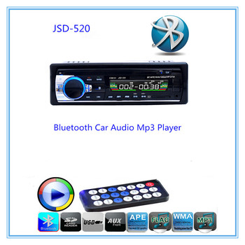 Hands-free Calls Autoradio Car Radio Bluetooth Audio Stereo In Dash FM Aux Input Receiver USB Disk SD Card with Remote