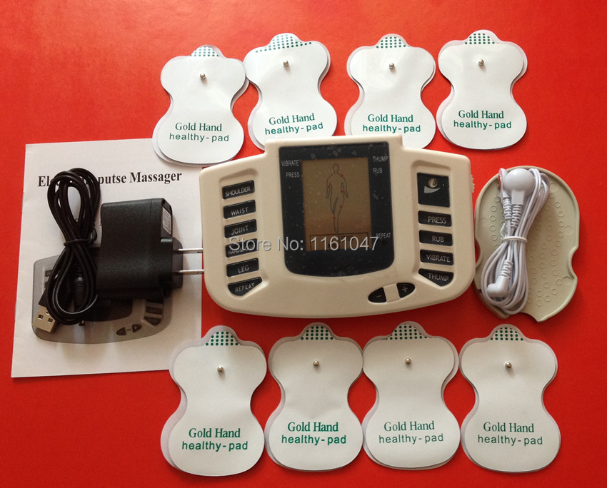 JR-309 TENS Electronic pulse Stimulator Therapy Body Massager,Pulse tens Acupuncture +Electrode pads - Healthy body-begins here store