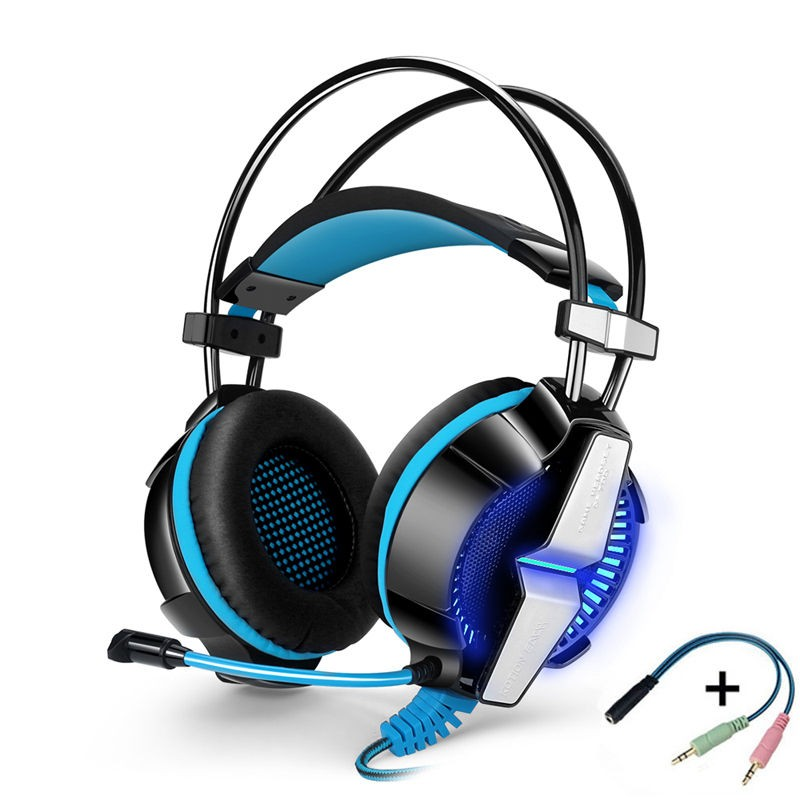 KOTION EACH GS700 Gaming headset Game headphones with Microphone for PS4 computer tablet pc laptop mobile phone LED head phone