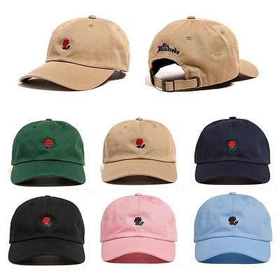 2017 The Hundreds Dad Hat Flower Rose Embroidered Curved Brim Baseball Cap Visor Hat
