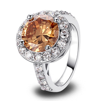 New Vogue Rings Morganite  Silver Ring Measurement 6 7 eight 9 Sparkling Vivid Present  For Girls Wholesale Free Transport