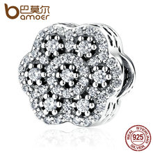 Buy BAMOER Authentic 925 Sterling Silver Flower Charm AAA Clearly Zirconia Charms Fit Women Bracelets Fashion Jewelry PAS388 for $10.94 in AliExpress store