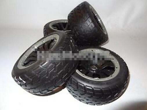 King Motor 1/5 Buggy Road Tarmac Wheels 4 Set Tires Fit HPI Baja 5B SS 2.0 Rovan(China (Mainland))