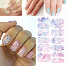 Free shipping Water Transfer Nails Art Sticker Pale pink leaf and flowers Design Manicure Decor Tools Water Film Paper Decals