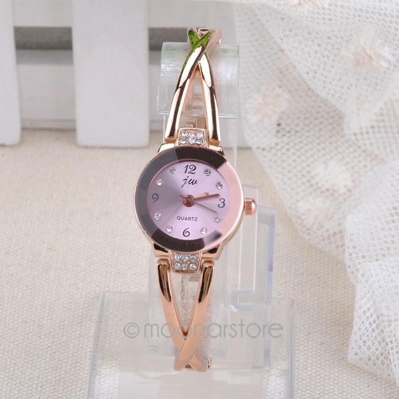 Women fashion New Elegant Princess Ladies Quartz Analog Bracelet Wrist Watch with Rhinestones Decor for Women  FMHM526#M1(China (Mainland))
