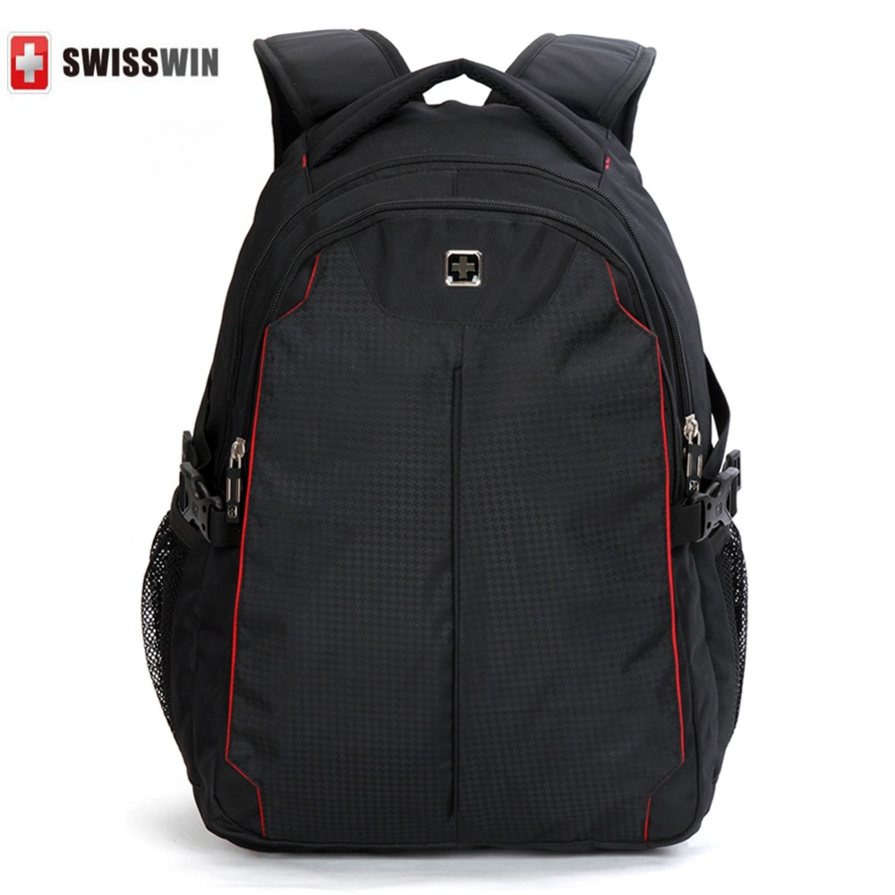 SWISSWIN Backpack Women&Men Black Travel Large Capacity Bag,Men's Luggage & Travel Bags Swiss Sports 15.6