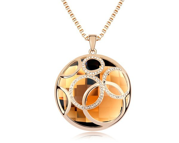 3 Austrian Crystal Vintage Long Necklace Christmas Dress Bohemian Jewelry Hollow Out Sweater Chain Statement Jewellery NXL0147