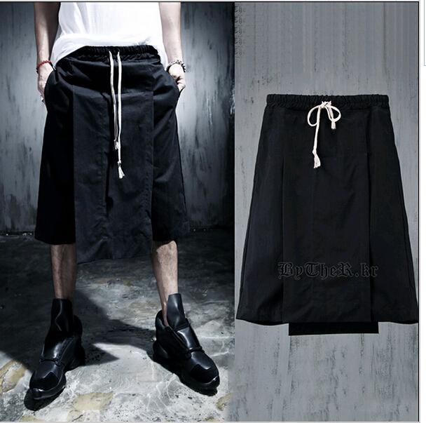 2015 New Khaki Pants Men Punk Gothic Rock Drop Crotch Dress Men's Skirt Pants Designer Baggy Brand Dance Pants For Men Hip(China (Mainland))