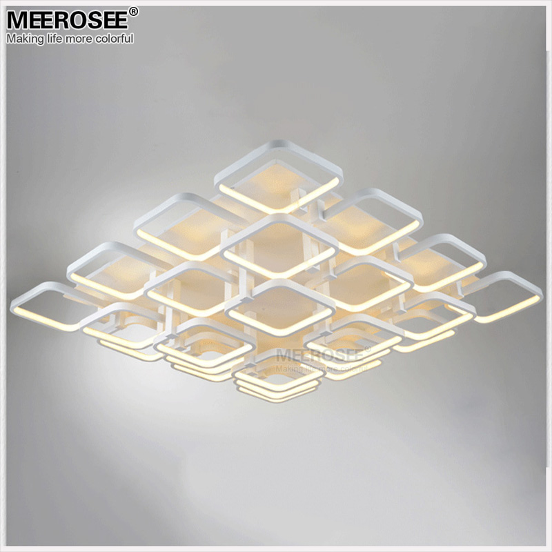 Square LED Chandelier Lighting Surface Mounted White Acrylic LED Lamp For Living Room lamparas de Techo Home Lighting<br>