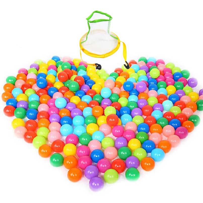55pcs/lot With box Ocean Wave Ball Baby Funny Toys stress beach ball colorful soft Plastic Tent Water Pool 5.5cm Wholesale(China (Mainland))