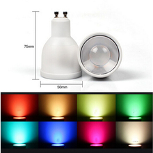 WIFI GU10 1.6million color change dimmable 2.4G led spot lamp 85-265V 4W RGBW LED Bulb control Iphone Ipad Android mi light - Mr-Light store