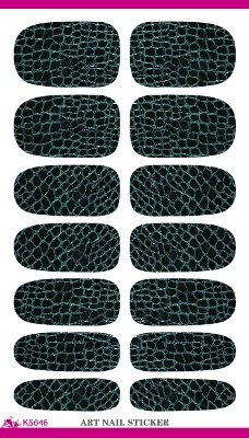 full Nail WRAPS Art Sticker Water Transfer False Nails Foil decals Manicure Decor Tools Cover design crocodile leather(China (Mainland))
