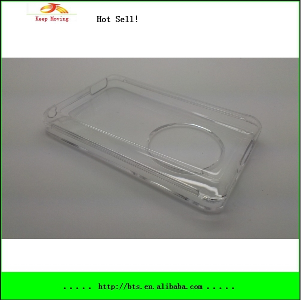 5 pcs/lot Clear Case For iPod Classic 80GB 120GB 160GB Crystal Protective cover(China (Mainland))