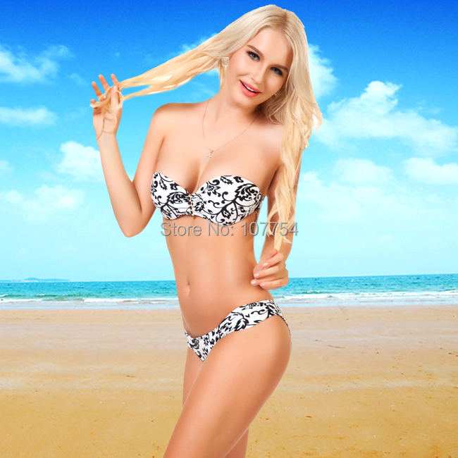 Swimwear Bandeau Hot Sexy Leopard Bikini New design Women Sexy Swimsuit New Arrival Hot Sexy Bathing Suit 1527Одежда и ак�е��уары<br><br><br>Aliexpress