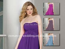 Beb0097 Fashion Designer Sweetheart Neckline Colorful Chiffon Short Bridesmaid Dress(China (Mainland))