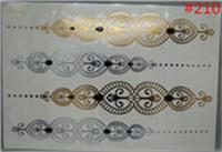 choker sticker nail tools flash gold metallic henna fake tatoo temporary stickers arabic golds glitter large temporary tattoos(China (Mainland))