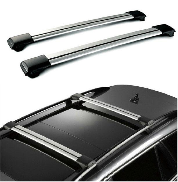 A Pair Silver Black Car 150LBS 99cm~105cm Roof Rack Cross Bar With Anti-theft Lock System For Vehicles With Raised Side Rails(China (Mainland))