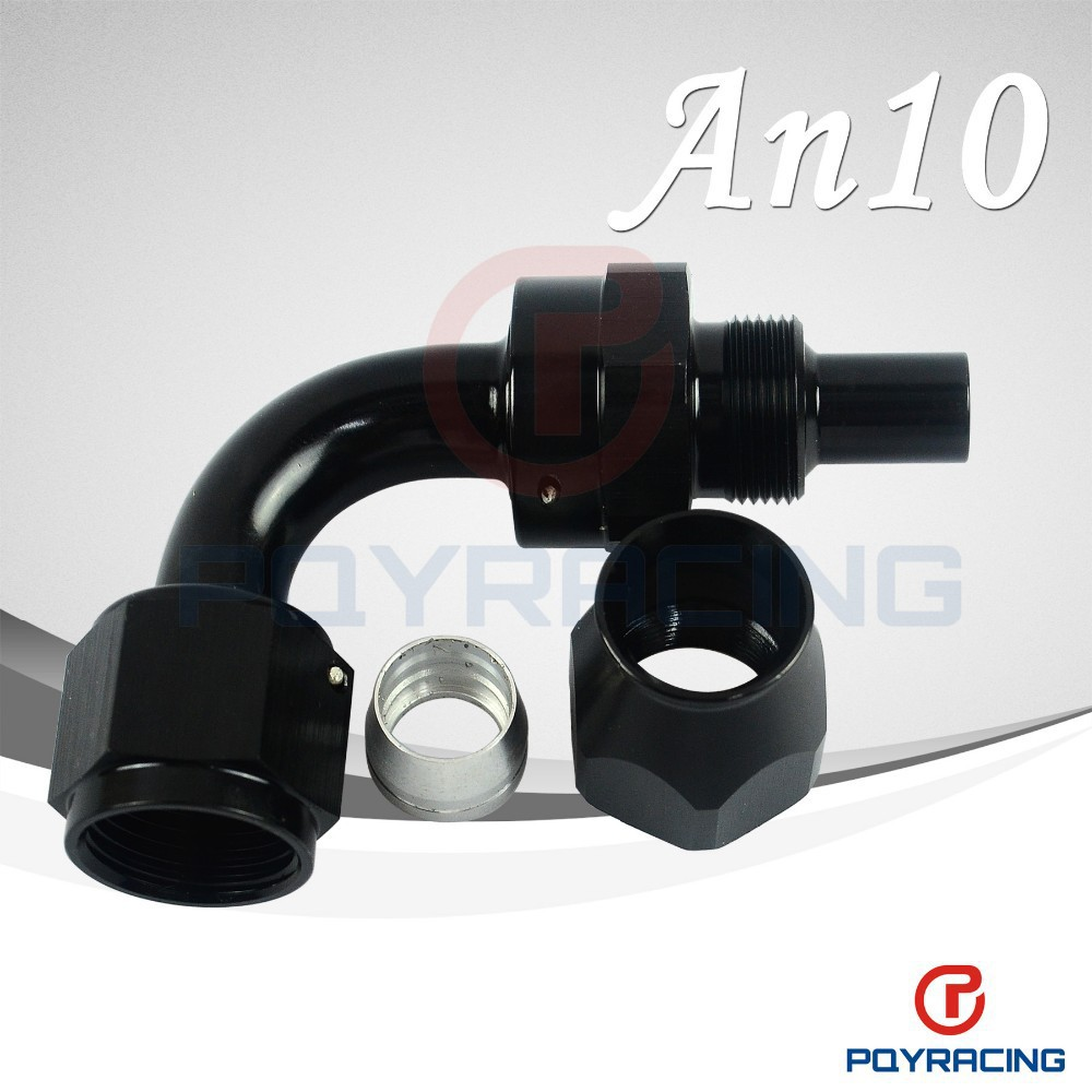 WLR STORE- Black High Quality PTEF AN10 AN-10 90DEGREE REUSABLE SWIVEL TEFLON HOSE END FITTING AN10(China (Mainland))