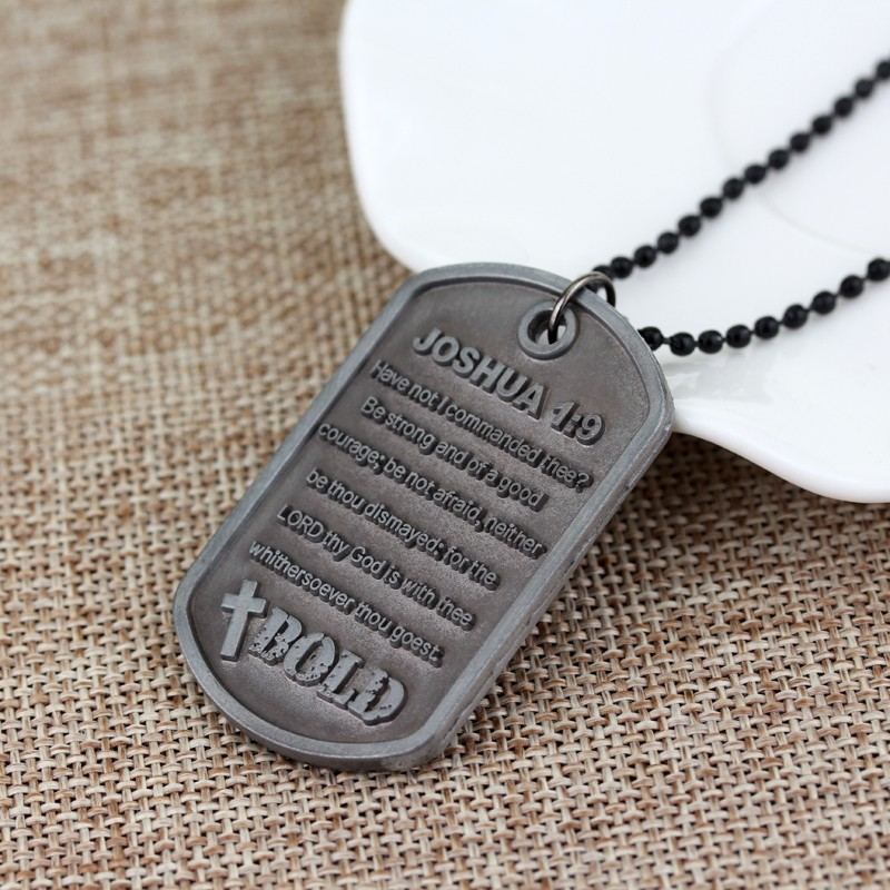 Creative Jewelry cabochon verre argent Collier Pendentifs : être courageux forte