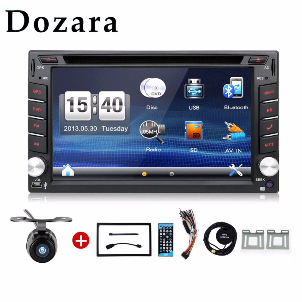 car stereo 2 din In Dash GPS navigator/dvd player/radio tuner/mp3 player/touch screen/bluetooth Free Map and Camera(China (Mainland))