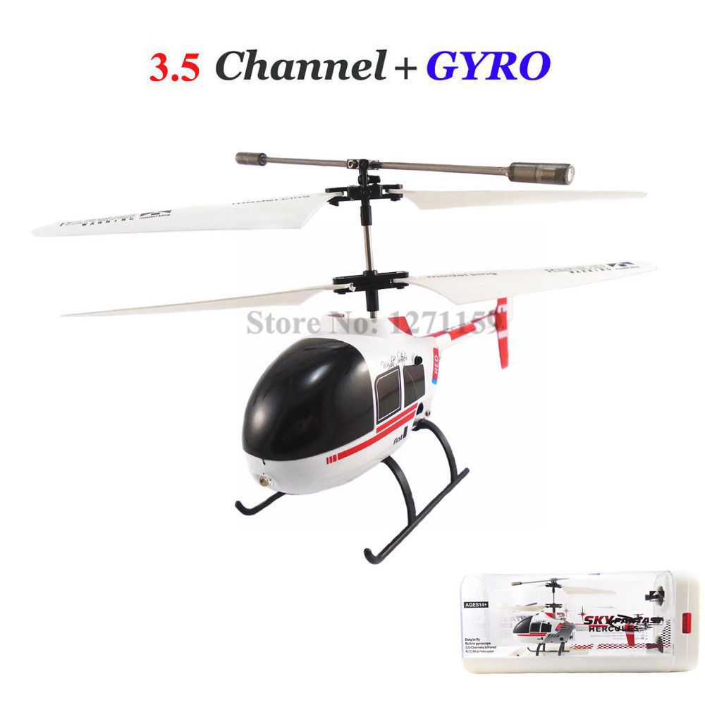 3.5CH RC helicopter gyro remote control aircraft luxury box to send the remote control battery charging Ruggedness Free shipping(China (Mainland))
