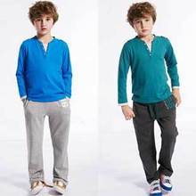 New Arrival Boys Leisure Pants Kids Cotton Trousers with Letter Print, Free Shipping A3069(China (Mainland))