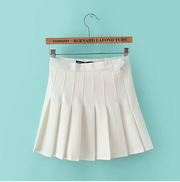 summer American brand Apparel women skirt vintage high waist skirt short feminino bodycon pleated tennis skirt plus size(China (Mainland))
