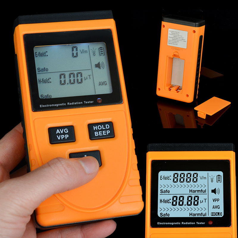 New Arrival High Quality Digital LCD Electromagnetic Radiation Detector Meter Dosimeter Tester Counter(China (Mainland))