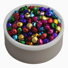 6MM 200 pcs/lot Mix Colors  Loose Beads Small Jingle Bells Christmas Decoration Gift Wholesale(China (Mainland))