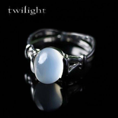 Genuine 925 Sterling Silver Twilight Bella Swan Moonstone Wedding Rings For Women(China (Mainland))