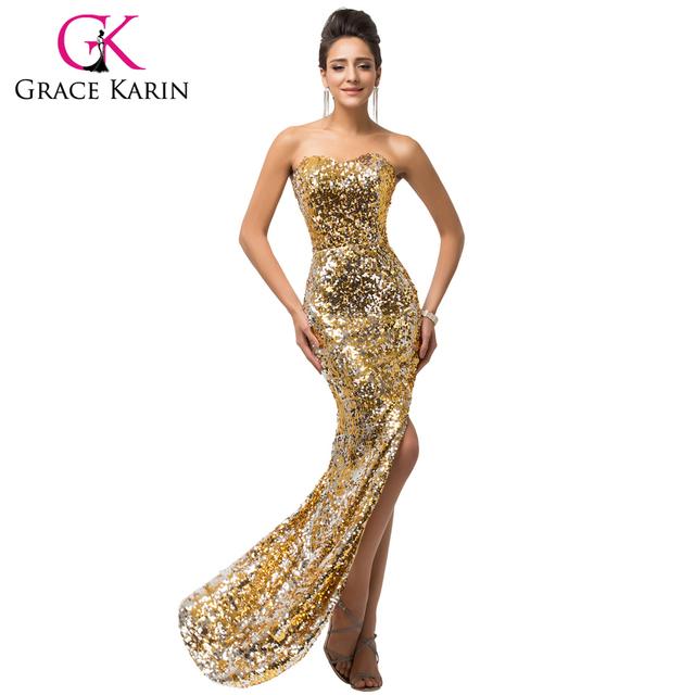 Асимметричный долго сексуальная спинки вечернее платье черный золотой вечернее платье ...