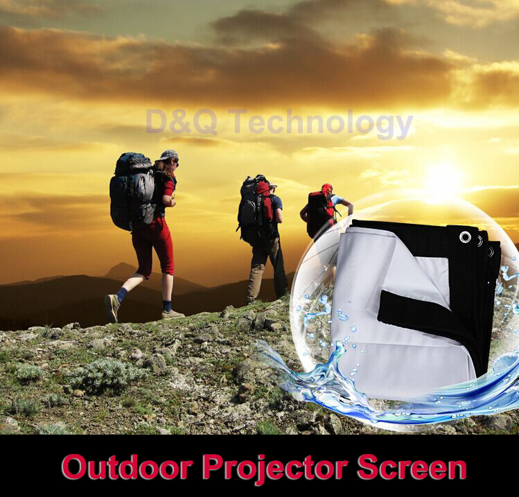 200 inches 4:3 Portable Wall Mounted Matt White Canvas Folding Outdoor Projector Screen for LED LCD HD Movie Projection Display(China (Mainland))