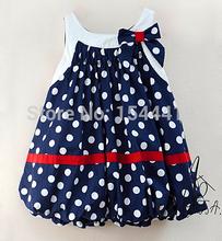2015 hot sale girl dress polka dots cotton kids dress 0 ~ 2T Fashion Dress Sale baby girl(China (Mainland))