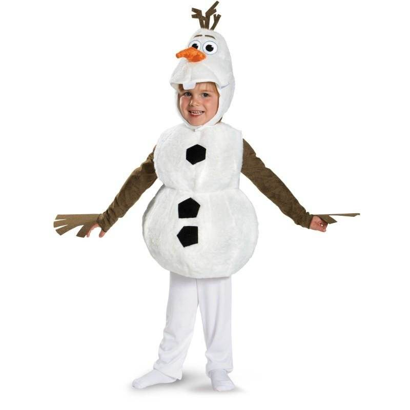 On Sale Cute Toddlers and Kids Deluxe Olaf Movie Cosplay Clothing Child Halloween Carnival Party Fancy Dress Costumes(China (Mainland))