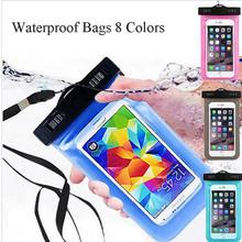 Universal Waterproof Full Cover Swim Phone Pouch Bag For LG F6 F60 F70 L5 L60 L7 L70 L80 Underwater Clear Watertight Belt Case
